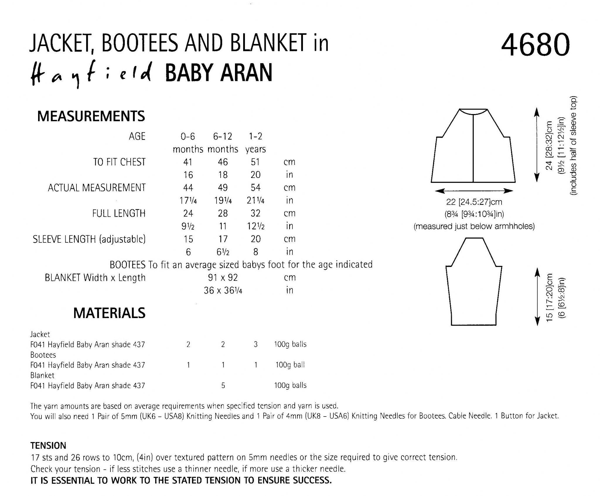 Hayfield baby aran jacket booteees blanket knitting pattern to 4680 hayfield baby aran jacket booteees blanket knitting pattern to fit birth to 2 years bankloansurffo Choice Image